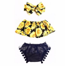 Newborn Toddler Kids Baby Girl Off Shoulder Tops Lace Shorts Outfit Clot... - $9.99