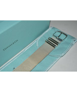 NEW Tiffany & Co Somerset Wide Sterlng Silver Mesh Buckle Bracelet w.Pou... - $912.28