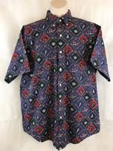 The Arrow Company 1851 World Series Baseball Short Sleeve Button Front Shirt - $9.14