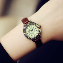 Rome Vintage Small Dial Women Quartz Watch Leather Strap Ladies Slim Wri... - $7.69