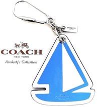 COACH Handbag Sailboat Keychain Blue White Nautical Beach Charm F65870 N... - $38.00