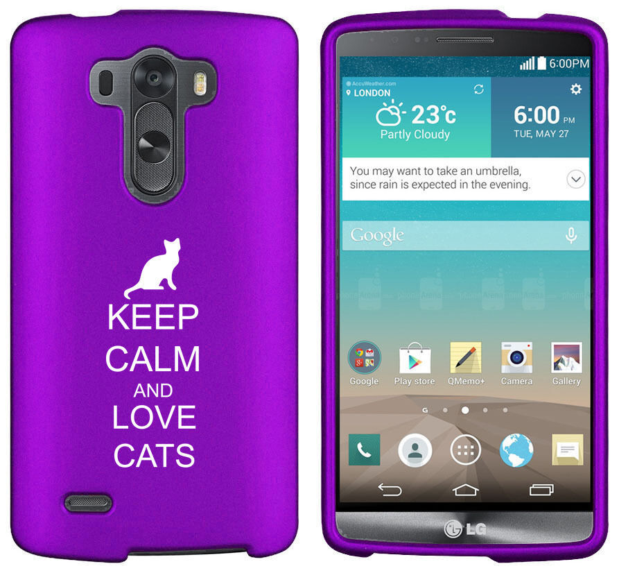 For LG G2 G3 Vigor G4 Shockproof Rubber Hard Case Cover Keep Calm Love Cats