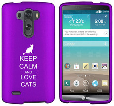 For LG G2 G3 Vigor G4 Shockproof Rubber Hard Case Cover Keep Calm Love Cats - $14.99