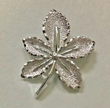 Vintage Signed Sarah Coventry Leaf Vintage Brooch Pin jewelry J0179 - $7.59