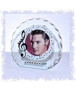 Elvis Presley musical Glass plaque with Photo perfect gift for the fan #1 - $33.65