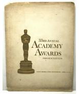 Vintage 1961 33rd Annual Academy Awards Presentation Program Psycho The ... - $42.06