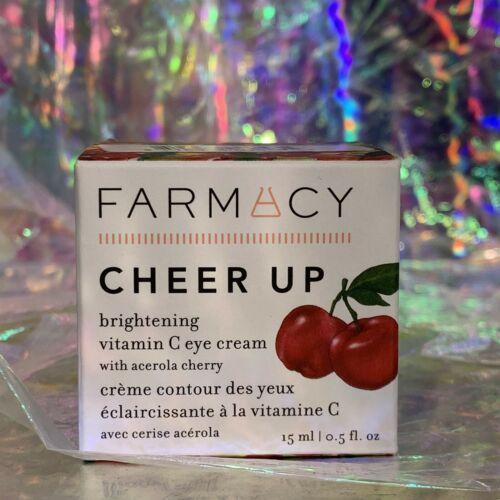 NIB Farmacy Cheer Up Vitamin C Eye Cream 15mL full Size NEW UNOPENED BOX