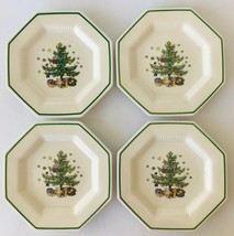 Nikko Christmastime 4 Salad Dessert Plates Made in Japan Holiday Table - $33.85