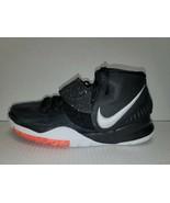 Nike Kyrie 6 Jet Black Basketball Shoes Youth Boys 7Y Black White BQ5599... - $59.39