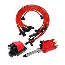 A-Team Performance Distributor, 8mm Spark Plug Wires, and E-Core Ignition Coil S