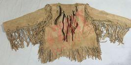 Men's New Handmade Native American Mountain Man Leather Fringe War Shirt... - $117.81+