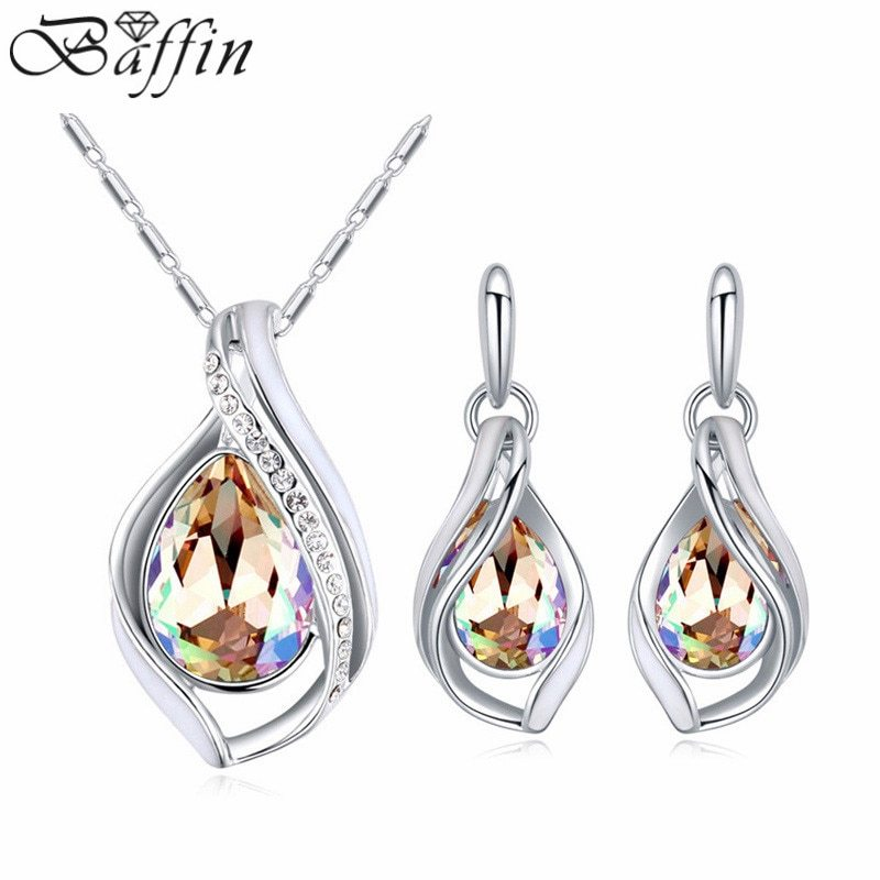 BAFFIN Crystals From SWAROVSKI Drop Pendant Necklaces Stud Earrings For Women We