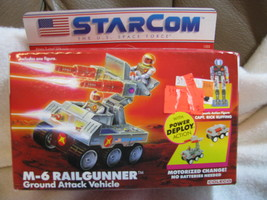 Star Com M-6 Rail Gunner. 1987. Unopened.Ages 5 and up. Coleco.Capt Rick... - $170.00