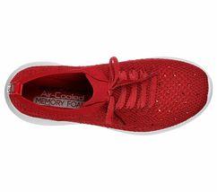 Skechers Red Shoes Memory Foam Women Slip On Comfort Casual Sporty Walking 13099 image 5