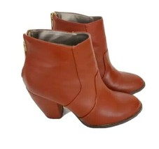 Ladies Michael Antonio Ankle Boot Brown Size 6 Faux Leather bootie - $19.79