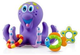 Nuby Octopus Hoopla Bathtime Fun Toys, Purple  - $13.64