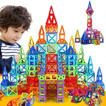 110 Piece Magnetic Tiles Magnetic Building Blocks with Wheels Toys for K... - $26.99