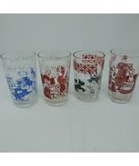 Vintage 1970s Swanky Swig Kraft Juice Glasses Elephant Bird Dog Bear Lot... - $18.46