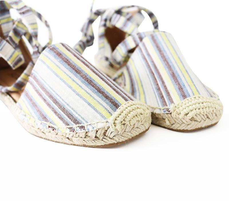 layout linen tie ankle espadrille flat sandal image 8