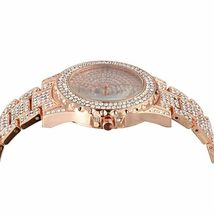 Women Jewelry Set 14K Rose Gold Necklace Earrings Watch Set made with Swarovski image 9