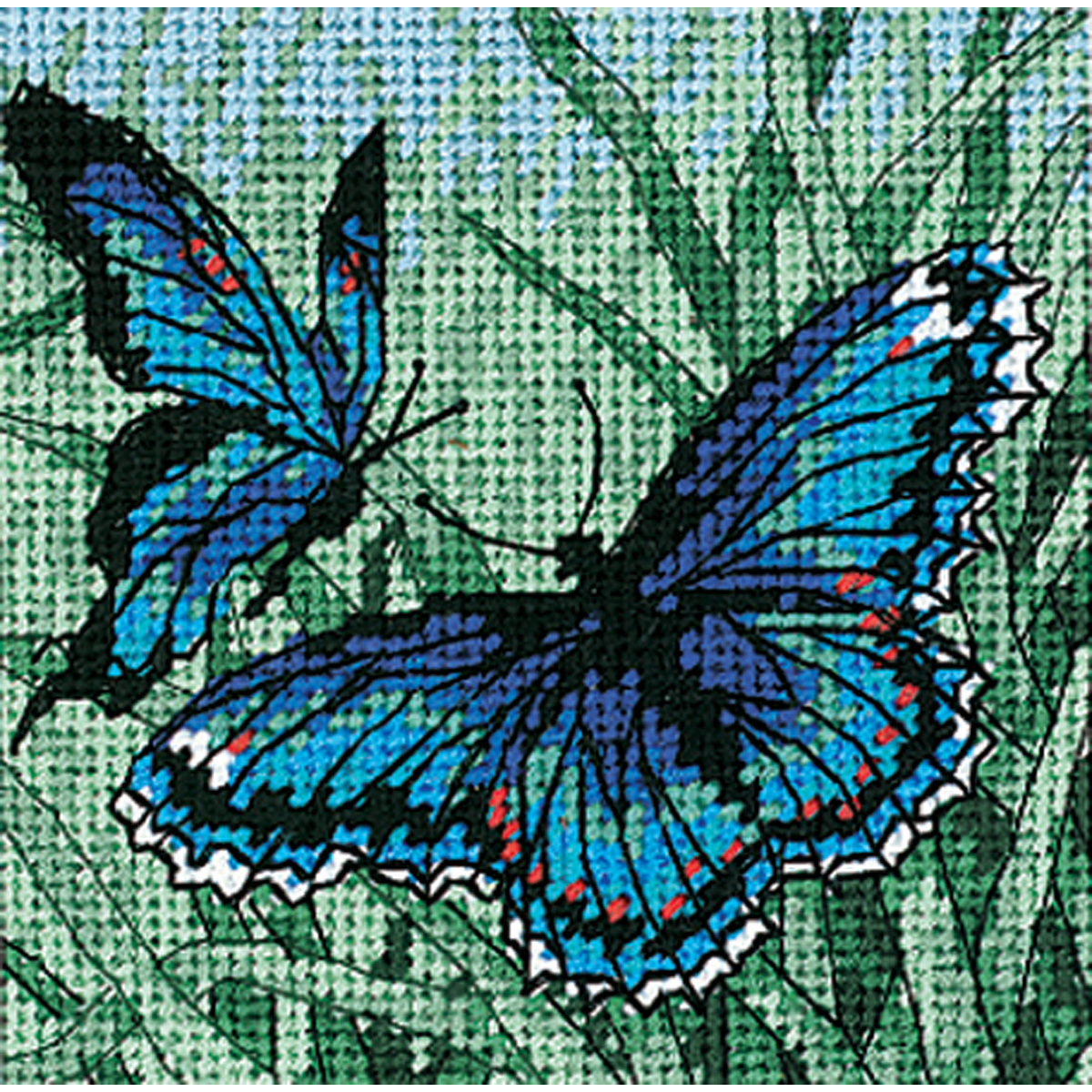 "Primary image for Dimensions Mini Needlepoint Kit 5""X5""-Butterfly Duo Stitched In Thread"