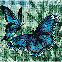 "Dimensions Mini Needlepoint Kit 5""X5""-Butterfly Duo Stitched In Thread - $11.48"