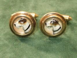 Vintage Krementz 14 K Gold Intaglio Crystal Fox... - $326.32