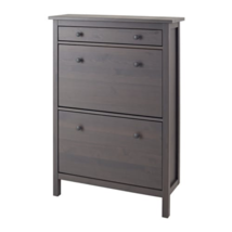 IKEA Hemnes Shoe Cabinet with 2 Compartments Dark Gray Stained, 203.817.... - €275,82 EUR