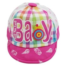 Baby Girl Beaked Infant Sun Protection Cap Toddler Breathable Hat Pink 3-6M image 2