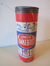 Vtg Tinkertoy Junior Set with Original Canister/Lid and Instruction Sheet - $24.85