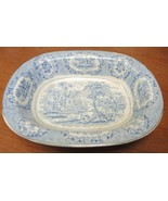 "1890s Ridgway Blue & White Transfer 9 1/2"" Open Vegetable * Oriental Pat... - $37.99"