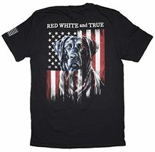 Men's Red, White & True Labrador Retriever on USA Flag T-Shirt (XXX-Large) - $23.71