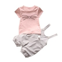Baby Clothes 2018 Spring Cute Baby Clothes 2pcs Baby Girl Outfit pink ca... - $10.99
