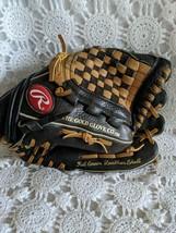 Rawlings Leather Fastback Model Glove Left Handed Adjustable Strap Black - $17.45