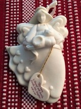 1992 KB Design Limited Edition Angel Ornament w/ Cat & Heart in Original... - $7.43