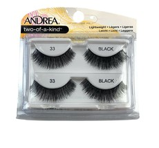 Andrea Two of a Kind Lightweight 2 Pairs of Lashes Black #33 - $6.92