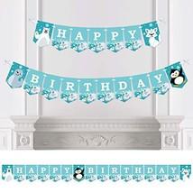 Big Dot of Happiness Arctic Polar Animals - Winter Birthday Party Bunting Banner - $30.49