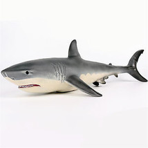 19 Inches Big Size Megalodon Great White Shark Toy Diecast Model Figure ... - $79.99