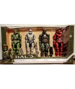 """Halo UNSC 12"""" Action Figures 4 Pack Master Chief Spartan Tanaka Marine S... - $31.67"""