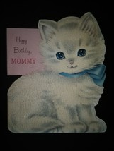 Sweet Kitten Vintage Birthday Card - £3.06 GBP