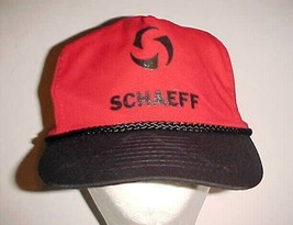 Schaeff Fork Lift Truck Adult Unisex Associates Red Black Cap One Size New - $24.74