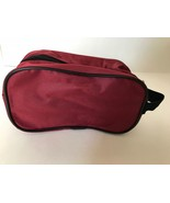 """* NEW * Tag Springfield III Luggage Red Lightweight 5"""" Travel kit Bag  - $14.01"""