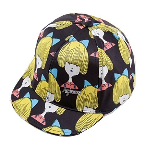 Fashionable and Creative Baby Girl Hat Adjustable Baseball Cap Hip-hop Caps (B)