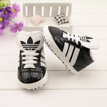 Baby Boys Sports Walking Shoes Black Leather Toddler Shoes A193 - $16.99