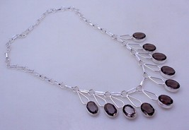 Smoky Silver Overlay Handmade Jewelry Necklace 32 Gr. F-288  /4 - $18.00