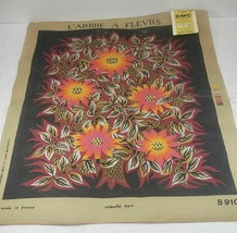 "French Needlpoint Canvas L'Arbre A Fleurs B 910, 29"" x 37"" UNUSED (minor... - $59.99"