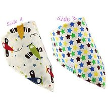 Lovely Plane Cotton Double Layer Saliva Towel Adjustable Baby Neckerchief 1611""