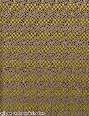 1.625 yd Maharam Upholstery Fabric Repeat Classic Houndstooth Lemon 462180 J