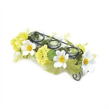 Blooming Faux Daisy Candleholder Centerpiece - $19.89
