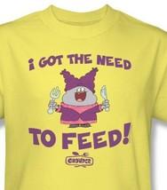 Chowder T-shirt Free Shipping cartoon network 100% cotton yellow tee CN227 image 1